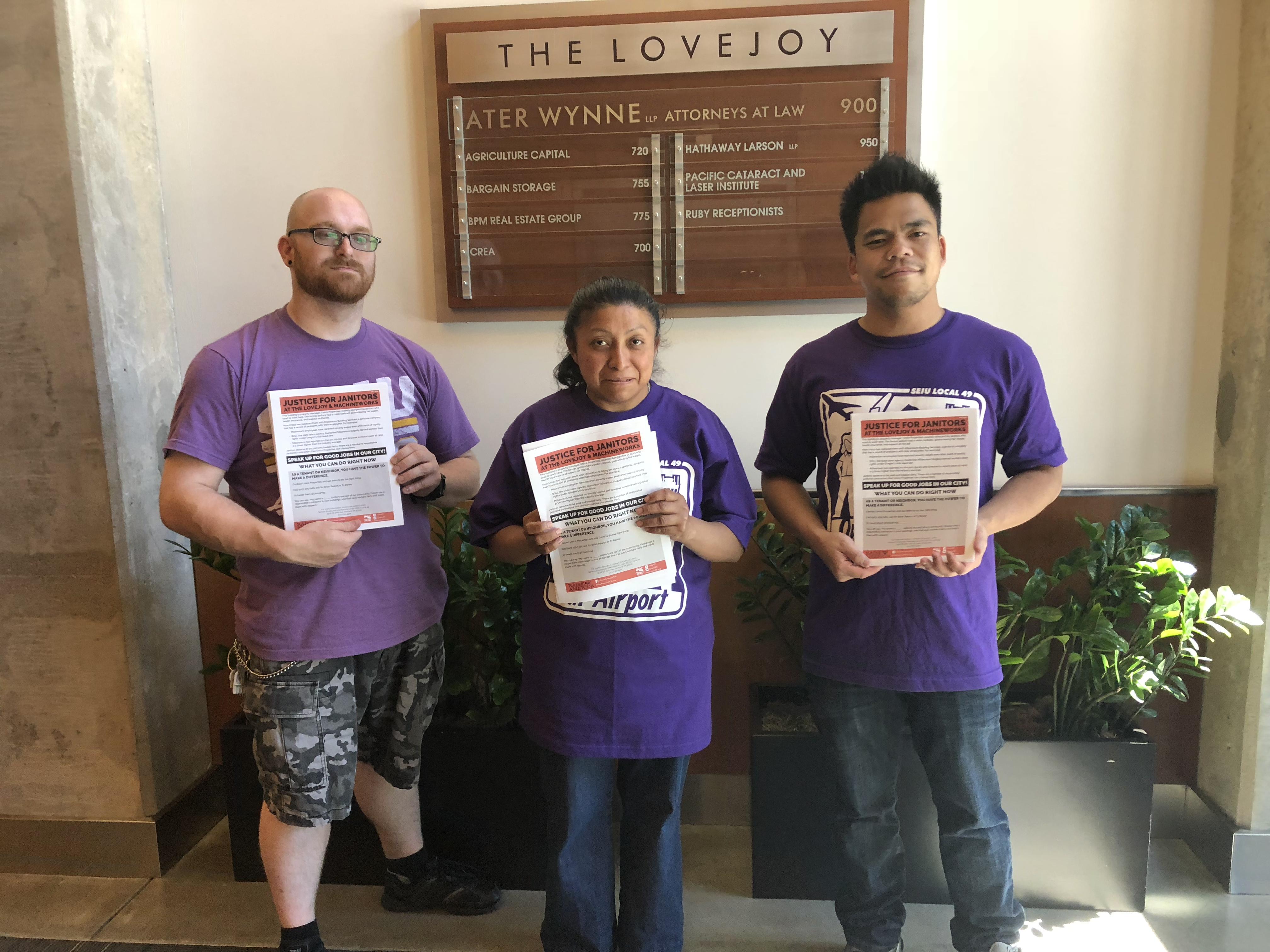 Unico delegation at Lovejoy Building